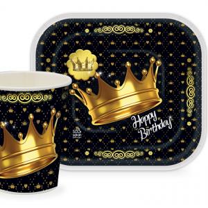 0004470   300x300 - پیش دستی و لیوان تم تولد تاج طلایی (Gold Crown)