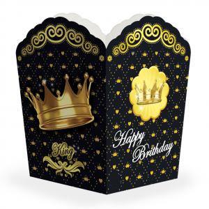 ظرف پاپ کرن تم تولد تاج طلایی (Gold Crown)