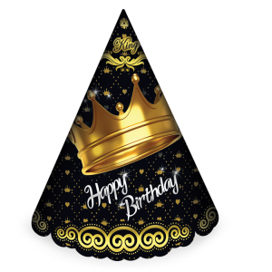 کلاه ساده اکلیلی تم تولد تاج طلایی (Gold Crown)