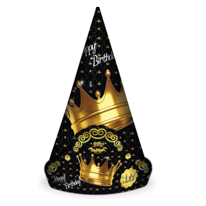 کلاه تاجدار تم تولد تاج طلایی (Gold Crown)