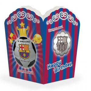 جعبه پاپ کورن تم تولد بارسلونا (Barcelona)