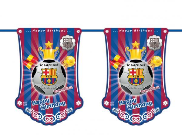 ریسه پرچم تم تولدبارسلونا (Barcelona)
