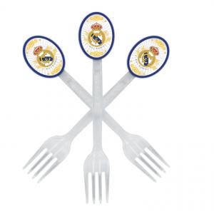 چنگالیکبار مصرف شفاف آبی تم تولد رئال مادرید (Real Madrid)