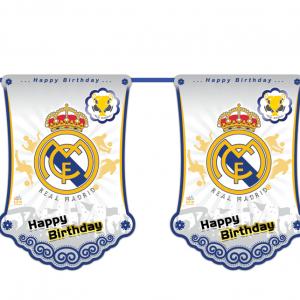 ریسه پرچم تم تولدرئال مادرید (Real Madrid)