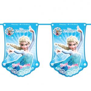 ریسه پرچم تم تولد دخترانه فروزن (Frozen)