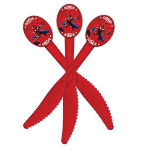 کارد یکبار مصرفشفافقرمزتم تولد پسرانهمرد عنکبوتی (Spider Man)
