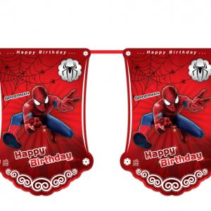 ریسه پرچم تم تولدپسرانهمرد عنکبوتی (Spider Man)