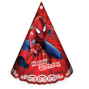 کلاه ساده اکلیلی تم تولد پسرانه مرد عنکبوتی (Spider Man)
