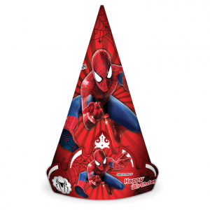 کلاه تاجدار تم تولد پسرانه مرد عنکبوتی (Spider Man)