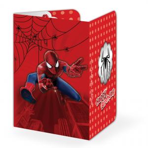 کارت دعوت تم تولد پسرانه مرد عنکبوتی (Spider Man)