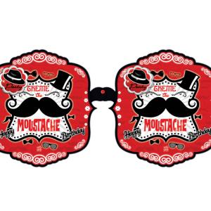 ریسه تولد برجسته تم مردانه سبیل (Moustache)