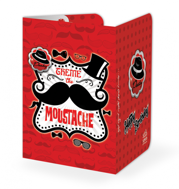 کارت دعوت تم تولدسبیل (Moustache)
